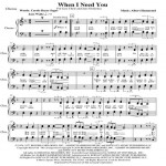 When I Need You J C & O Chorus Web Icon