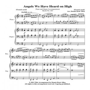 Angels We Have Heard on High Cover Sheet