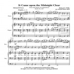 It Came Upon The Midnight Clear Cover Sheet