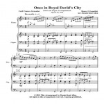 Once in Royal David's City Cover Sheet