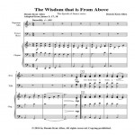 The Wisdom that is From Above Cover Sheet